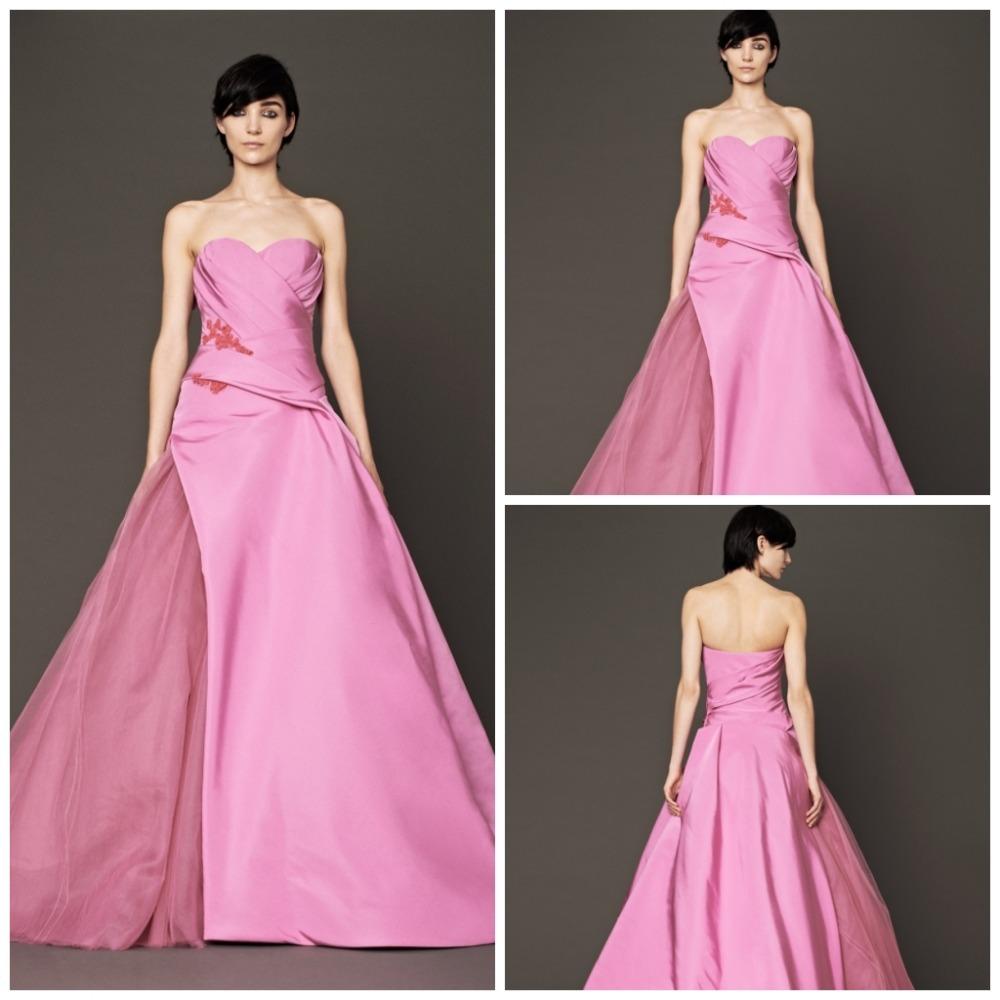 Sweetheart off shoulder simple and elegant wedding dresses for Simple pink wedding dress