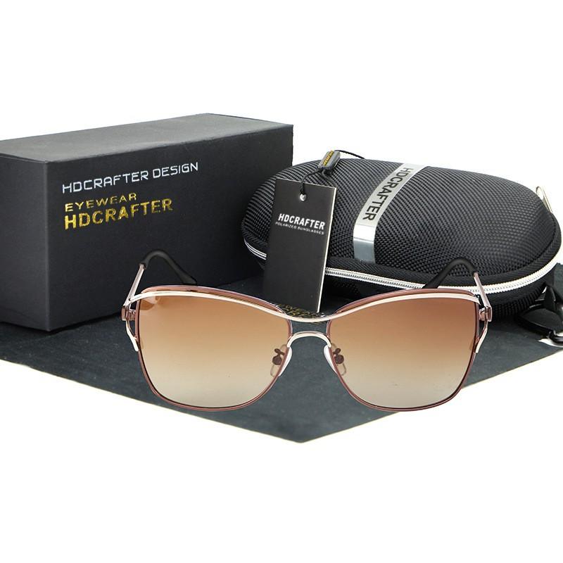 HDCRAFTER Women Sunglasses Brand Designer Fashion Glasses Ladies Sun Glasses UV400 Polarized Eyewear Female Spectacles