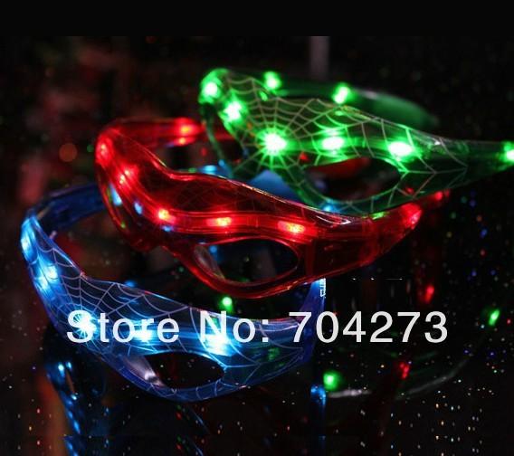 20pcs/ lot free shiping+ led spiderman glasses/ led glasses/ LED mask glasses/ flashy mask