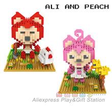 LOZ Diamond Building Blocks 2 Style Cute Foxes Ali&Peach Chinese Cartoon Anime Model DIY Leisure Bricks Free Shipping