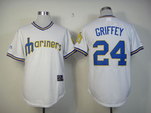 #24 Ken Griffey Jr  jersey  Seattle Mariners Jersey Embroidery Logo Sports Sportswear Baseball Jerseys Free Shipping 848(China (Mainland))