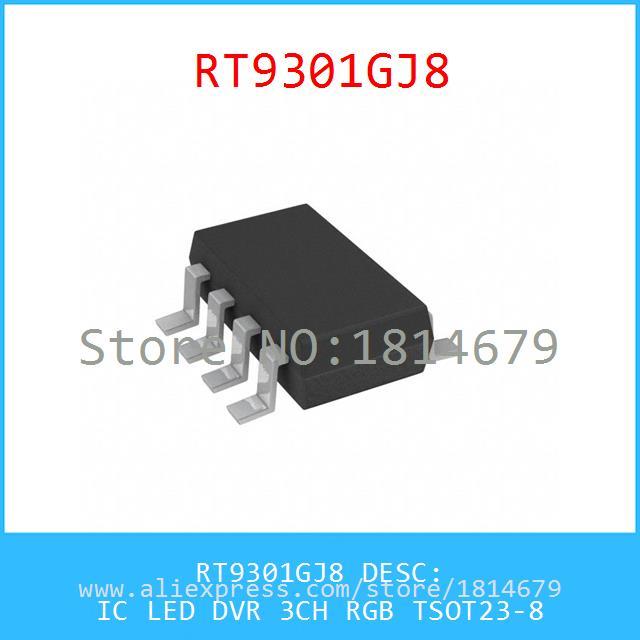 Integrated Circuits Types RT9301GJ8 IC LED DVR 3CH RGB TSOT23-8 9301 RT9301 5pcs