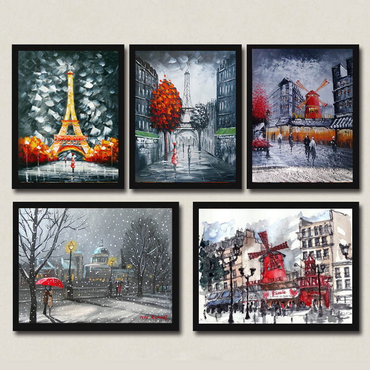 5d Diamond Painting Landscape Eiffel Tower Embroidery Mosaic Chinese Cross Stitch Arts Crafts & Sewing Bead Embroidery Icon