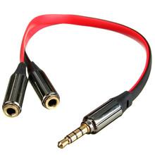 Аудио переходник адаптер 3.5мм мини-jack стерео разветвитель на два разъема для наушников
