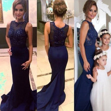 In Stock Navy Blue Mermaid Bridesmaid Dresses Sexy 2016 Wedding Party Dress Long Vestido Longo Plus Size