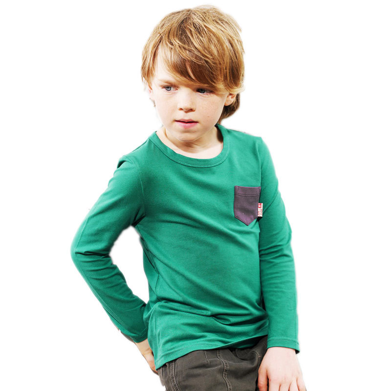 JJLKIDS Boys New Fashion Long Sleeve Clothes  Soild T-shirts Size 5-15 Years <br><br>Aliexpress