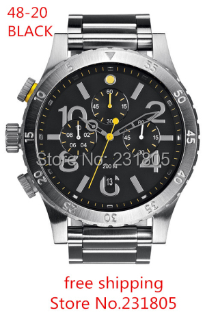 HOT fashion watch The 48-20 CHRONO WATCH 48-20 WATCH with original box stainless steel watch FREE SHIPPING(China (Mainland))