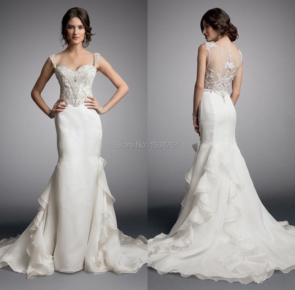 Unique Designed Back Wedding Dresses