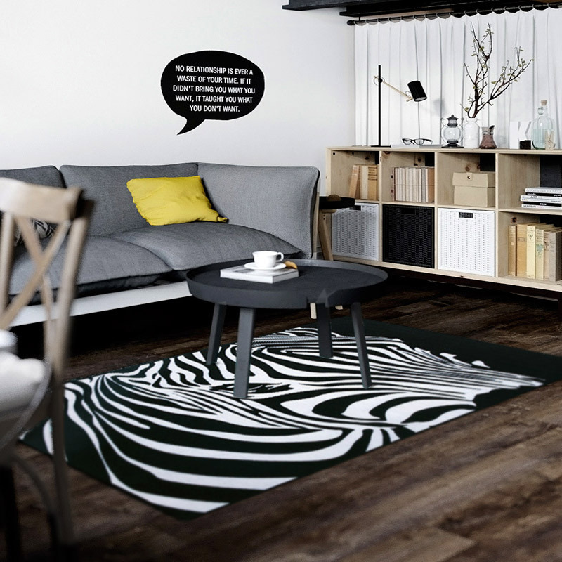 Hoge kwaliteit groothandel tapijt zwart wit van chinese tapijt zwart wit groothandelaars - Deco grote woonkamer ...