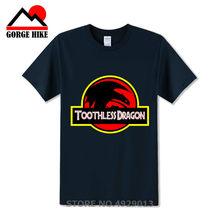 Desdentado Jurassic Park T-shirt Dos Homens Tops Bonito Como Treinar O Seu Dragão Brinquedos Dos Desenhos Animados T-shirt Camiseta Traje Roupas de Algodão tshirt(China)