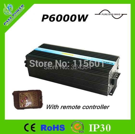 Factory Selling,Input 12v 24v 48v Pure Sine Wave 6000w Off Grid Inverter for Solar and Wind System(China (Mainland))