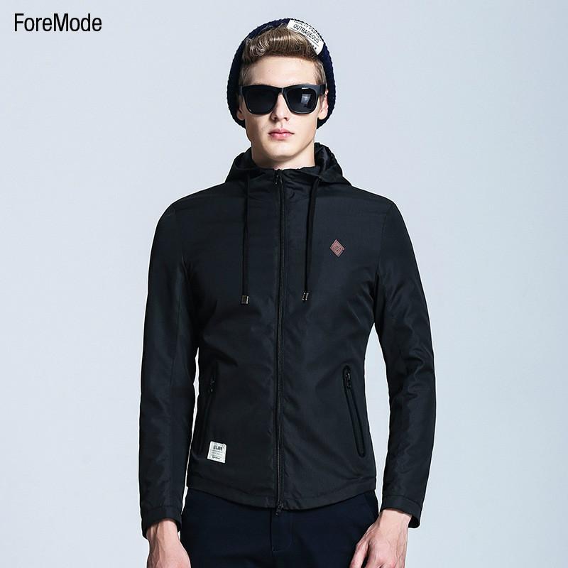2015 ForeMode Men Jackets New Winter Mens Jacket Collar Korean Male Boy Hooded Jacket Casual BusinessTideОдежда и ак�е��уары<br><br><br>Aliexpress
