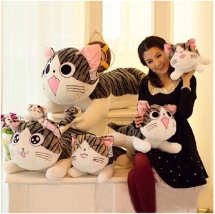 20cm plush toy stuffed animal doll lovely cat style plush toy 4 styles can be choosed free shipping(China (Mainland))