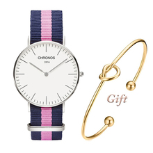 2018 New High Quality Fashion Luxury Brand Watches for Men Women with Nylon Strap Thin Quartz watch for Ladies and Gentlemen (China)