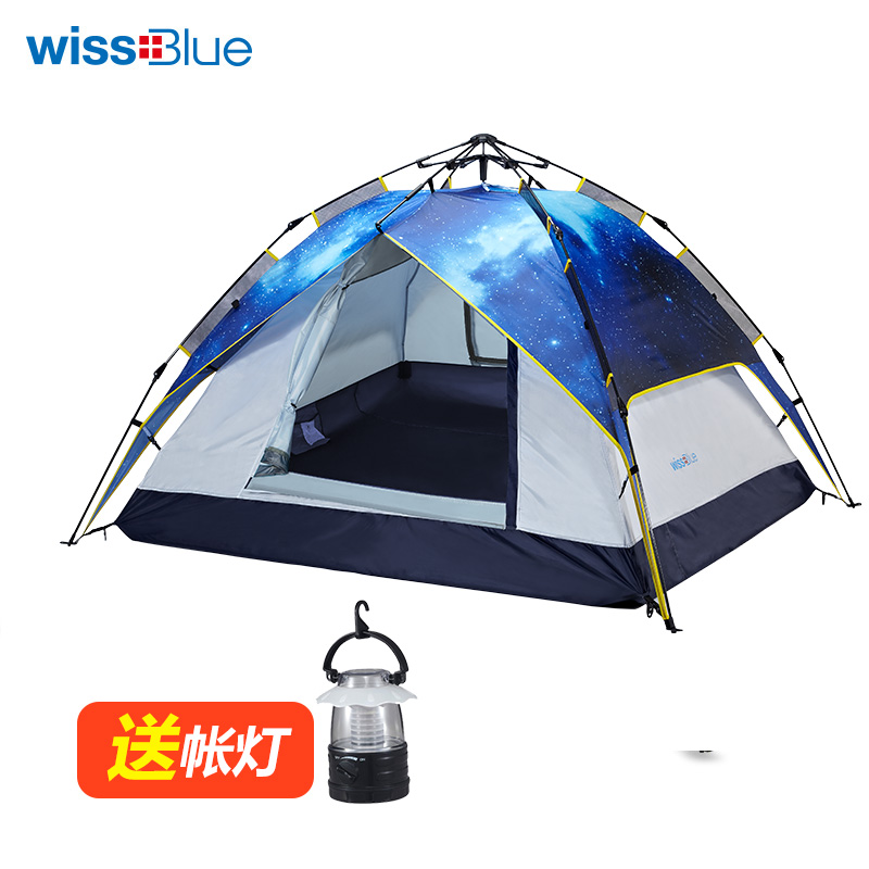 Fully-automatic wissblue outdoor tent double layer 3 - 4 rainproof camping tentorial<br><br>Aliexpress