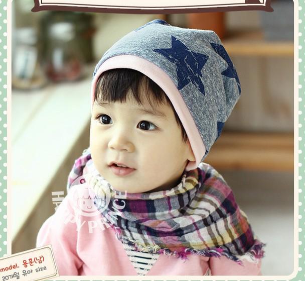 Newborn Baby Hats Cotton Star Print Infant Baby Girls Hats Cap Kid Hats Skull Caps Toddler Boys Girls Hats For Children(China (Mainland))