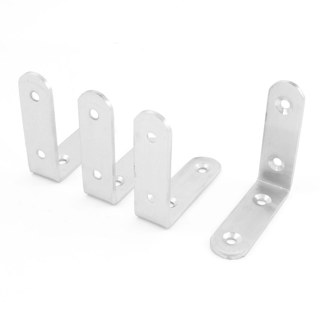 Promotion! 65mm x 65mm Stainless Steel 90 Degree Angle Bracket 4 Pcs(China (Mainland))