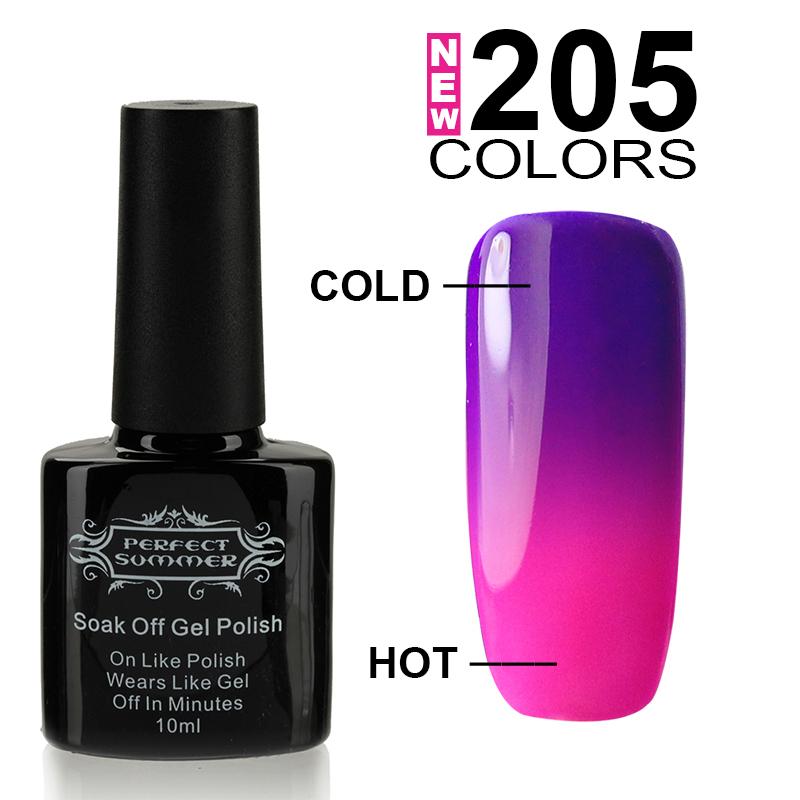 Nail Gel Polish Temperature Change Nail Color UV Gel Polish 10ml 1pcs Nail Gel for Nail soak off gel polish(China (Mainland))