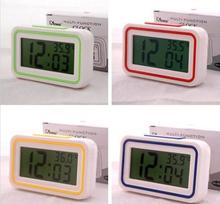 Free shipping high volume electronic digital alarm clock lazy luminous blind mute Talking Clock LED luminous screen(China (Mainland))