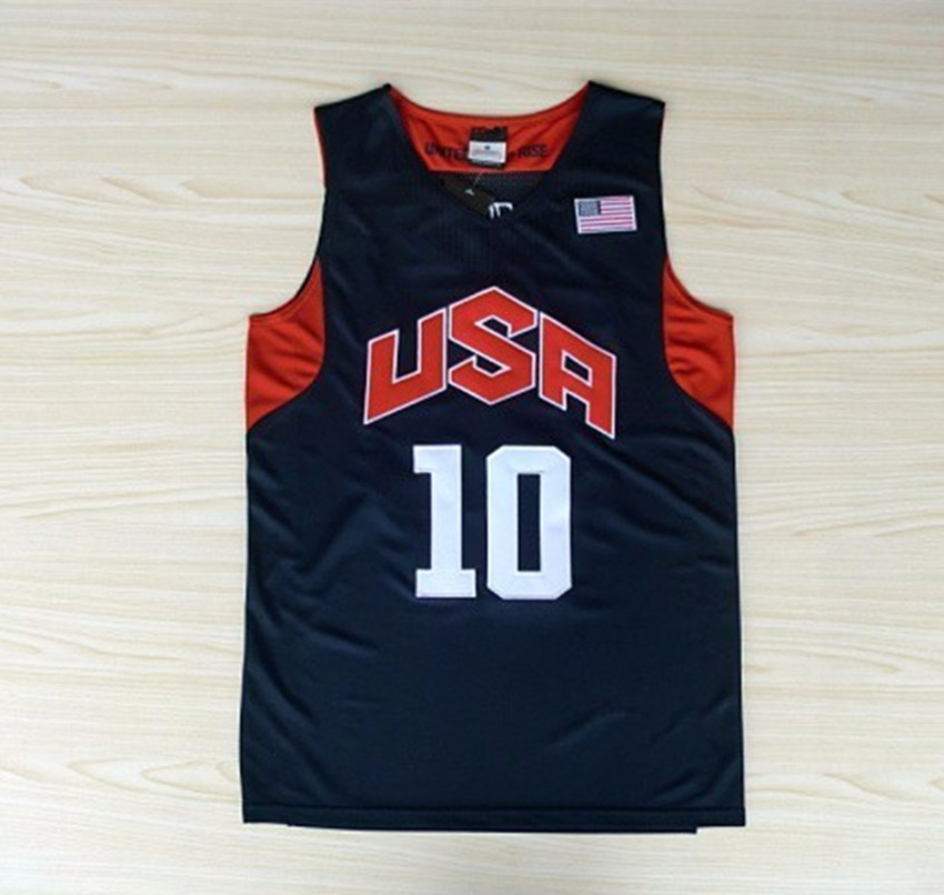 USA Basketball Jersey 10 Kobe Bryant 6 Lebron James Kevin Durant 5 2012 Dream Team London Olympic Games Throwback Stitched(China (Mainland))