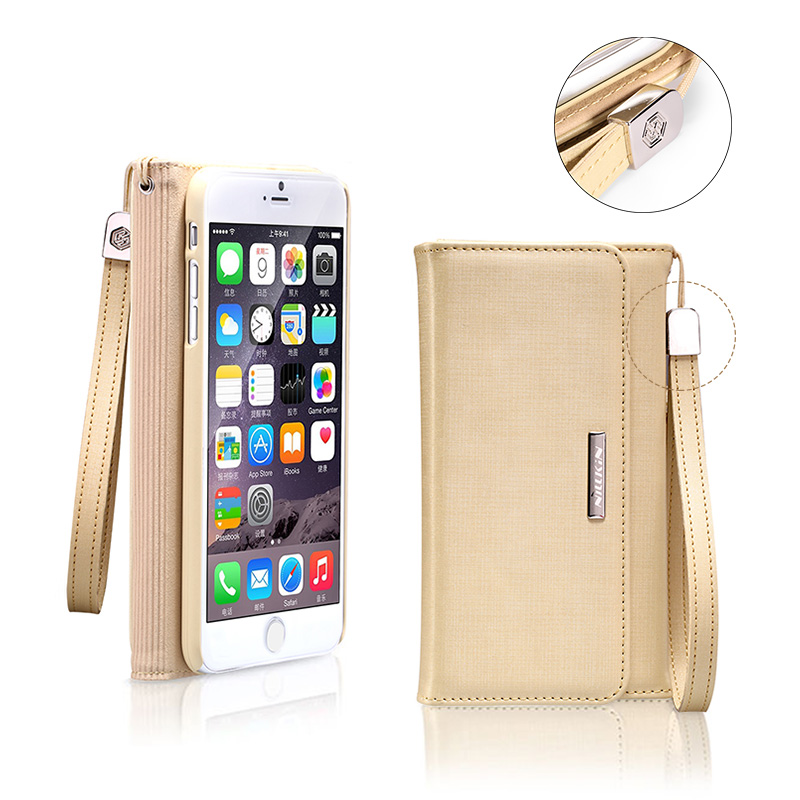 Quality Nillkin New Hippie BAZAAR Series Wallet Case 3 in1 protective shell 360 degree phone protector for iPhone 6 Plus/6S Plus(China (Mainland))