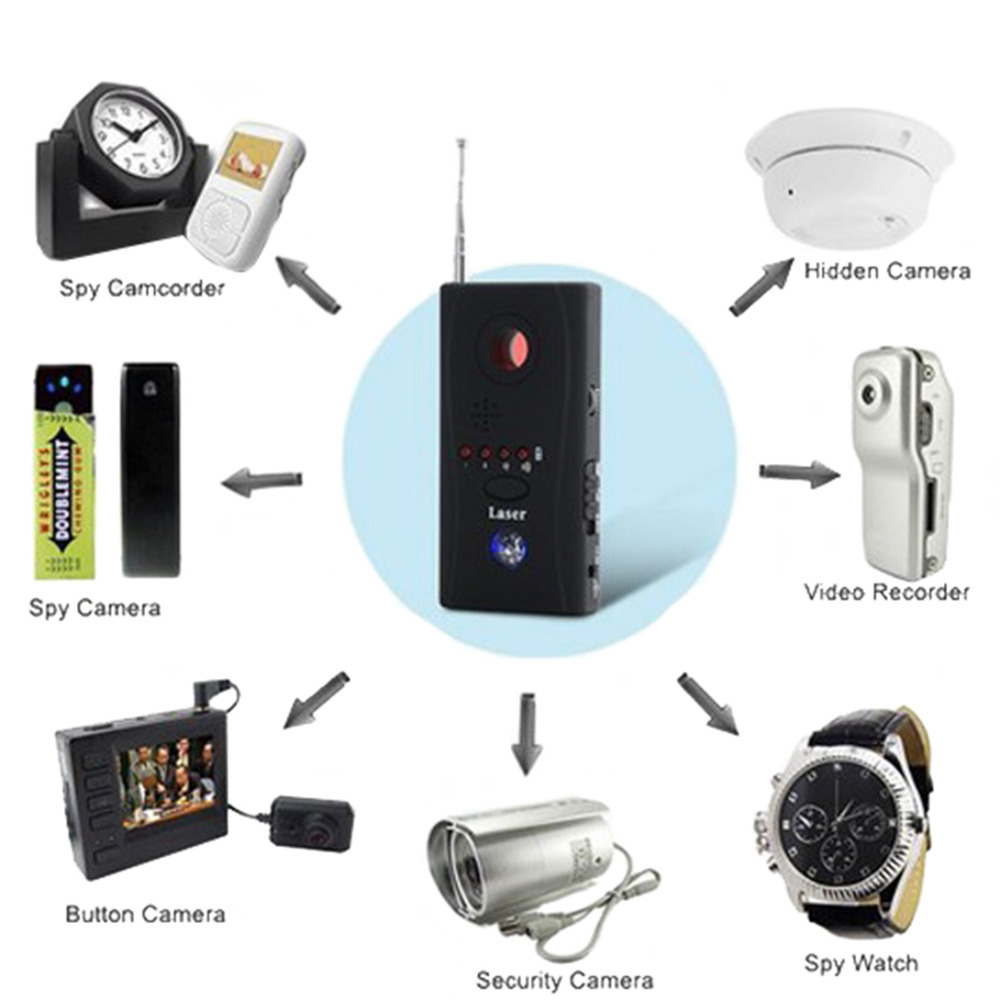 New Wireless RF Signal Detector CC308 Multi Function Camera Bug GPS Laser GSM WiFi Full range