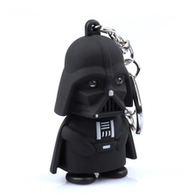 Star Wars Black Knight Darth Vader Stormtrooper LED Light With Sound PVC Action Figures Toy Children Kids Gifts Anakin Skywalker(China (Mainland))