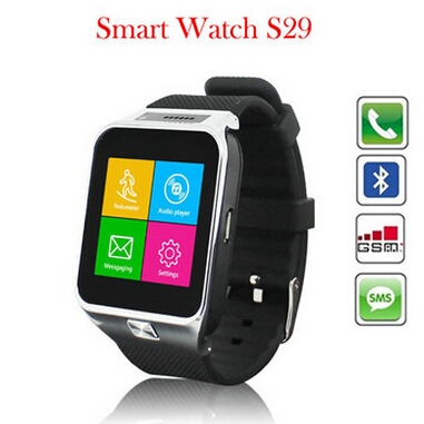 S29 Luxury smart watch bluetooth camera TF card and SIM card slot Bluetooth wrist smartwatch Smart phone for Android smartphone(China (Mainland))