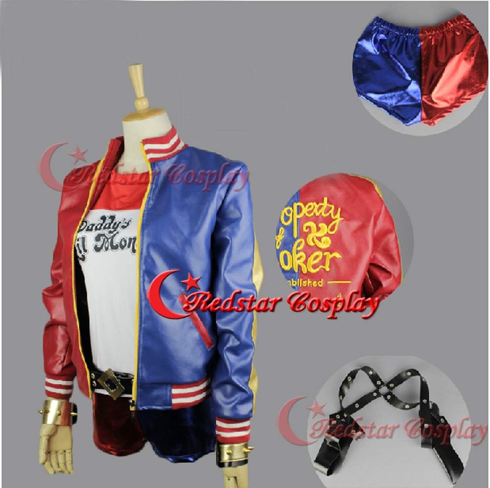 Suicide Squad Harley Quinn Cosplay Costume Harley Quinn Jacket cosplay