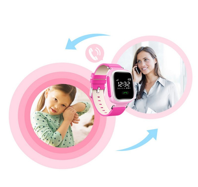Safe Anti Lost Monitor Baby Gift Q60 Children Smart Watch Phone SIM Card GPS Tracker For Kids SOS Smartwatch Android IOS