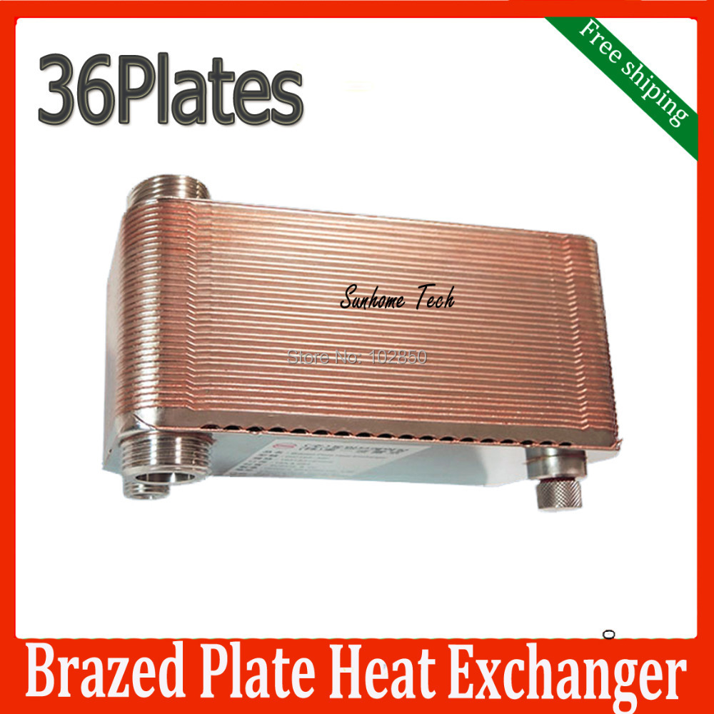 Brazed Plate Heat Exchanger 36 plates SUS316 Stainless Steel,small size high efficiency heat exchanger free shipping(China (Mainland))
