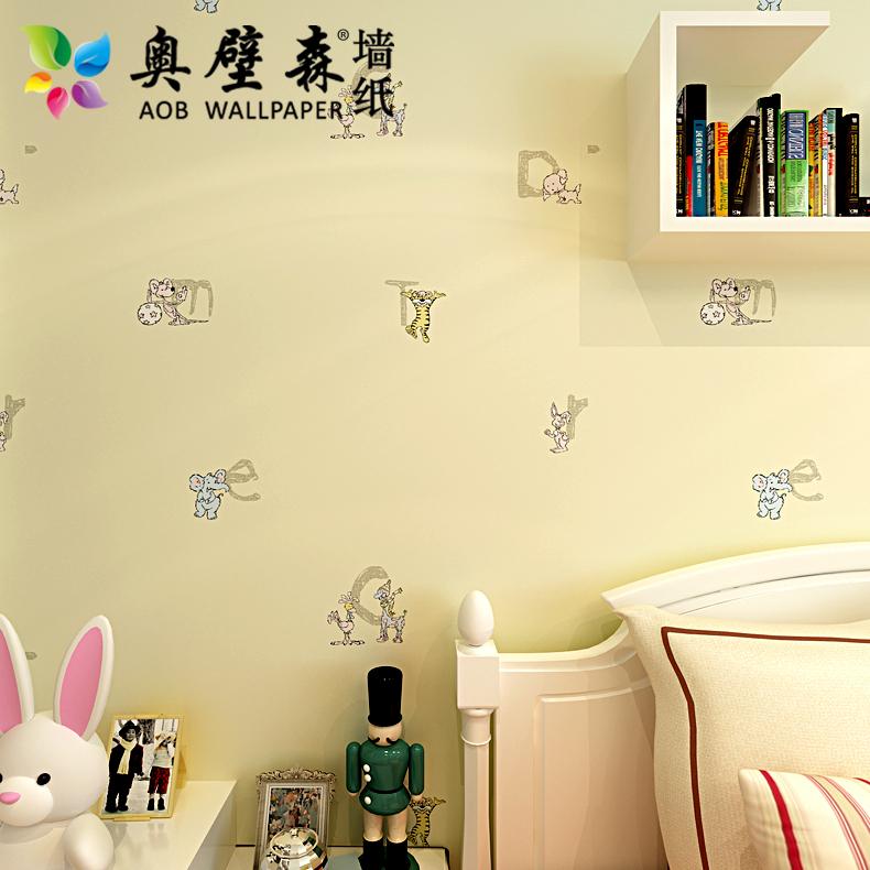 New animal wall paper rolls 3d letter wallpaper for girls for 3d wallpaper for kids bedroom