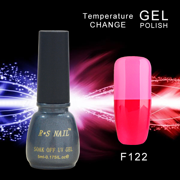 Temperature change beauty R.S brand nail gel nail polish uv gel for nail kit unhas de gel lacquer magnetic color changing gule