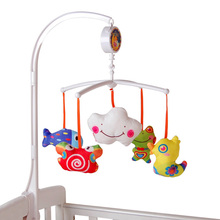 1Set Baby Crib Mobile Bed Bell Toy Holder Arm Bracket Musical Graspe Toy 5Pcs Cute Dolls  with Wind-up Music Box K5BO(China (Mainland))
