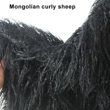 Black, Mongolian Curly Sheep Faux Fur Fabric, baby photography props, fur coat, Top quality Sold by the yard, free shipping