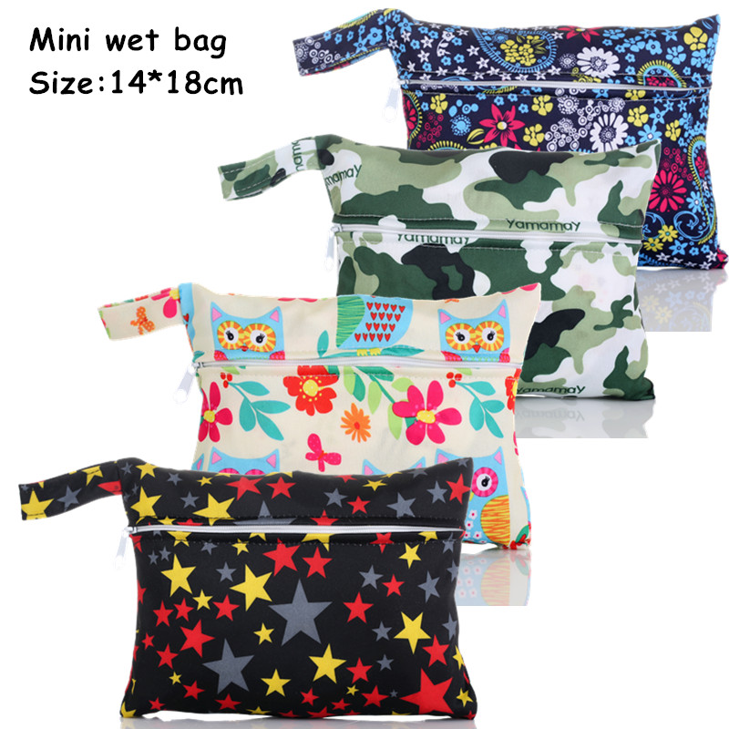 1PC Reusable Waterproof Mini Small Wet bag Pouch For Menstrual Pads Nursing Pads Stroller,Makeup,14*18CM,Wholesale Selling(China (Mainland))