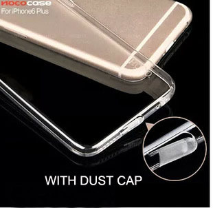 Transparent Crystal case for iPhone 6 Cover and for iPhone 6 Plus Cover Dust Cap Protection for iPhone 6 Case(China (Mainland))