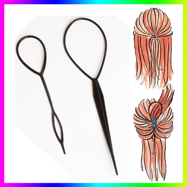 Горячая распродажа шик магия Верхsy волос оплетки хвост стайлинг чайник клип инструмент ...