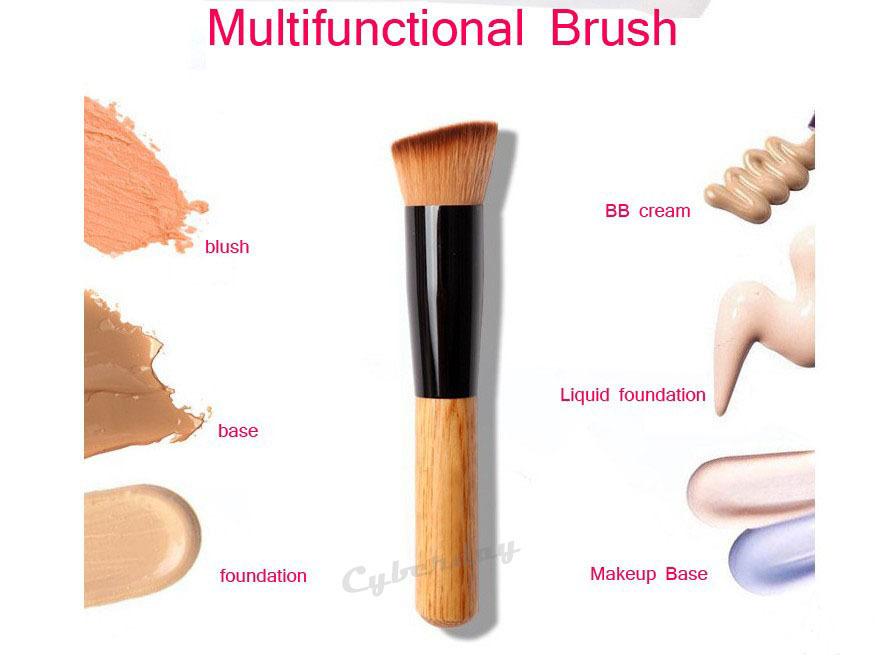 1Pcs Multi-Function Professional Makeup Brushes Powder Concealer Blush Foundation Make up Brush Set Wooden Kabuki for mac MakeUp(China (Mainland))