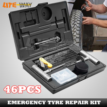 46PCS Tools Automotive Tyre Puncture Repair Recovery Kit for car/ automobile, tire repair tools(China (Mainland))