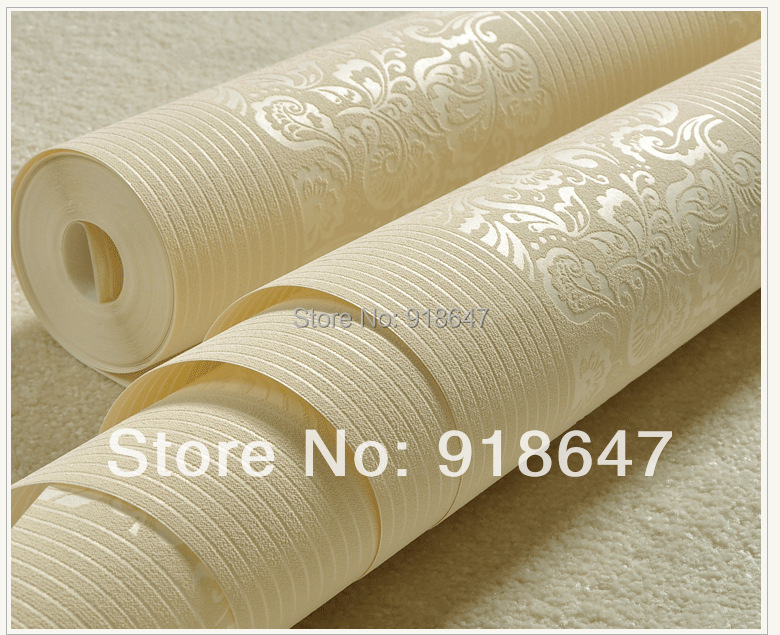 Wholesale high quality plain stripe flower wood fabric for Cheap plain white wallpaper