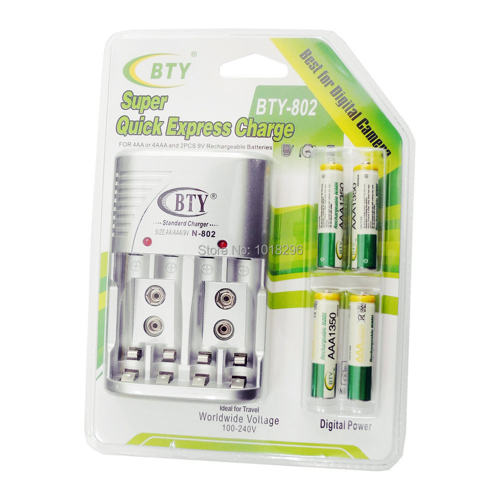 Cheaper BTY 1 2V AAA 4 1350mah Rechargeable Ni MH Battery BTY 802 AA AAA Battery