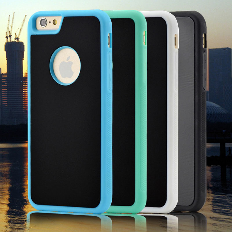 "Luxury TPU+PC Anti-gravity Selfie Hybrid Magical Nano Suction Cover Case Skin for iPhone 5 5S 6 6S plus 4.7"" 5.5"" 100pcs/lot(China (Mainland))"