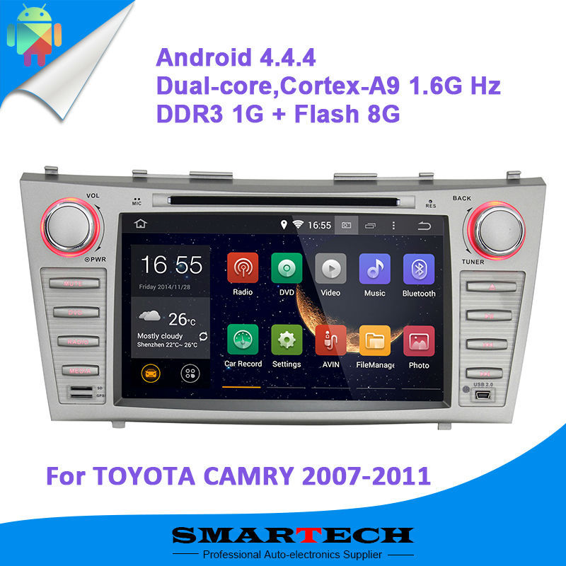 Автомобильный DVD плеер SMARTECH Android GPS 4.4 TOYOTA CAMRY 2007 2008 2009 2010 2011, Android dvd CAMRY автомобильный dvd плеер lg android 4 4 8 dvd citroen c4 aircross peugeot 4008 mitsubishi asx 2010 2011 gps