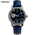 Time100 12 Constellation Pisces Women Automatic Self wind Mechanical Watch Leather Strap Ladies Wrist Watches For