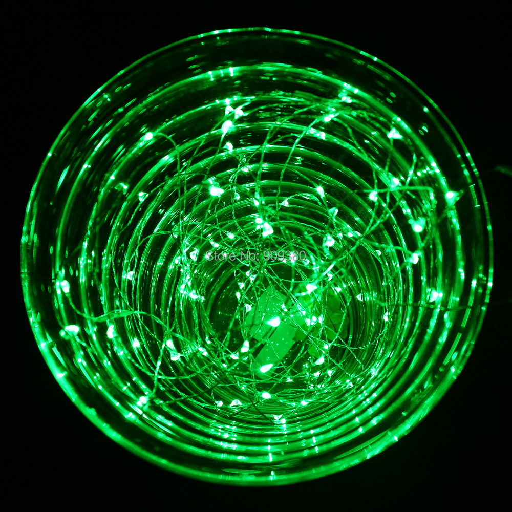 33ft 100 led outdoor christmas fairy lights green copper