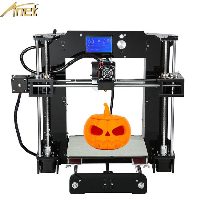 Анет Алюминиевый Очаг Точность 3d-принтер Reprap Prusa i3 DIY Kit 3d-принтер Накаливания Карты Программное Обеспечение Видео Бесплатно