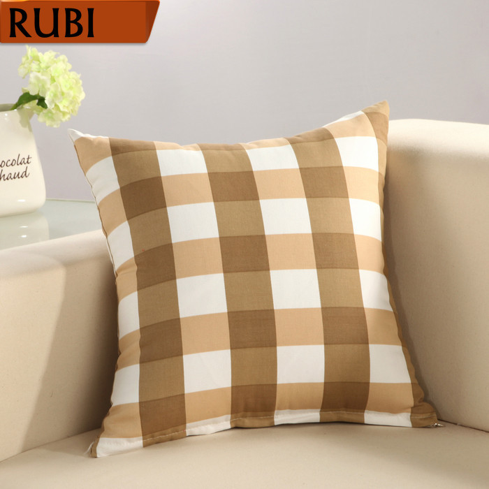 Buy rubi casual cotton plaid cushion no - Plaid para sofa ...
