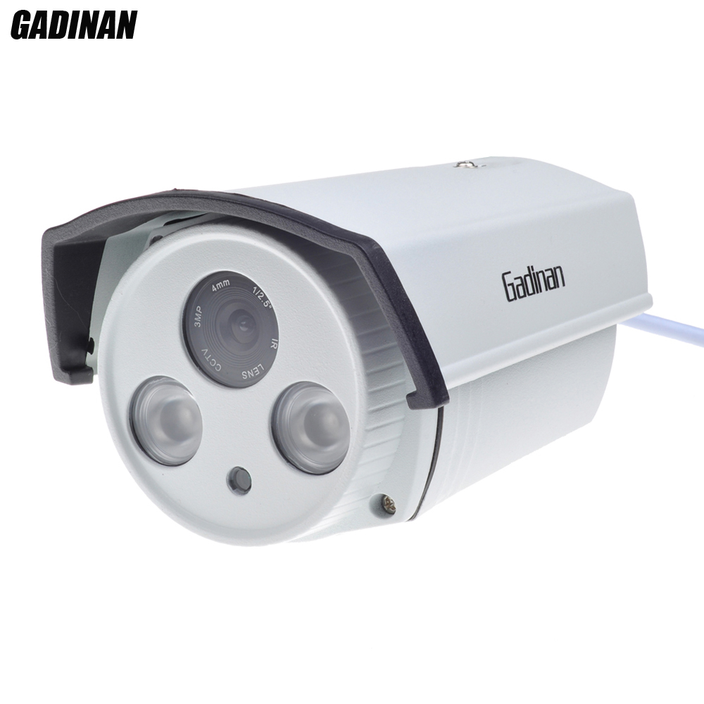 "GADINAN ONVIF H.265 4MP IP Camera Hi3516D+1/3"" OV4689 6mm Lens WDR Array Outdoor HD Network CCTV Bullet Camera(China (Mainland))"