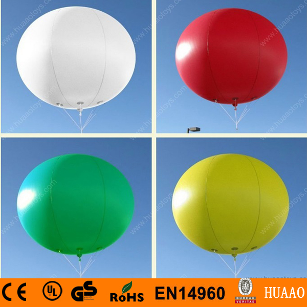Free shipping 2m/6.5ft PVC inflatable balloon sky balloon helium balloon for advertising events(China (Mainland))